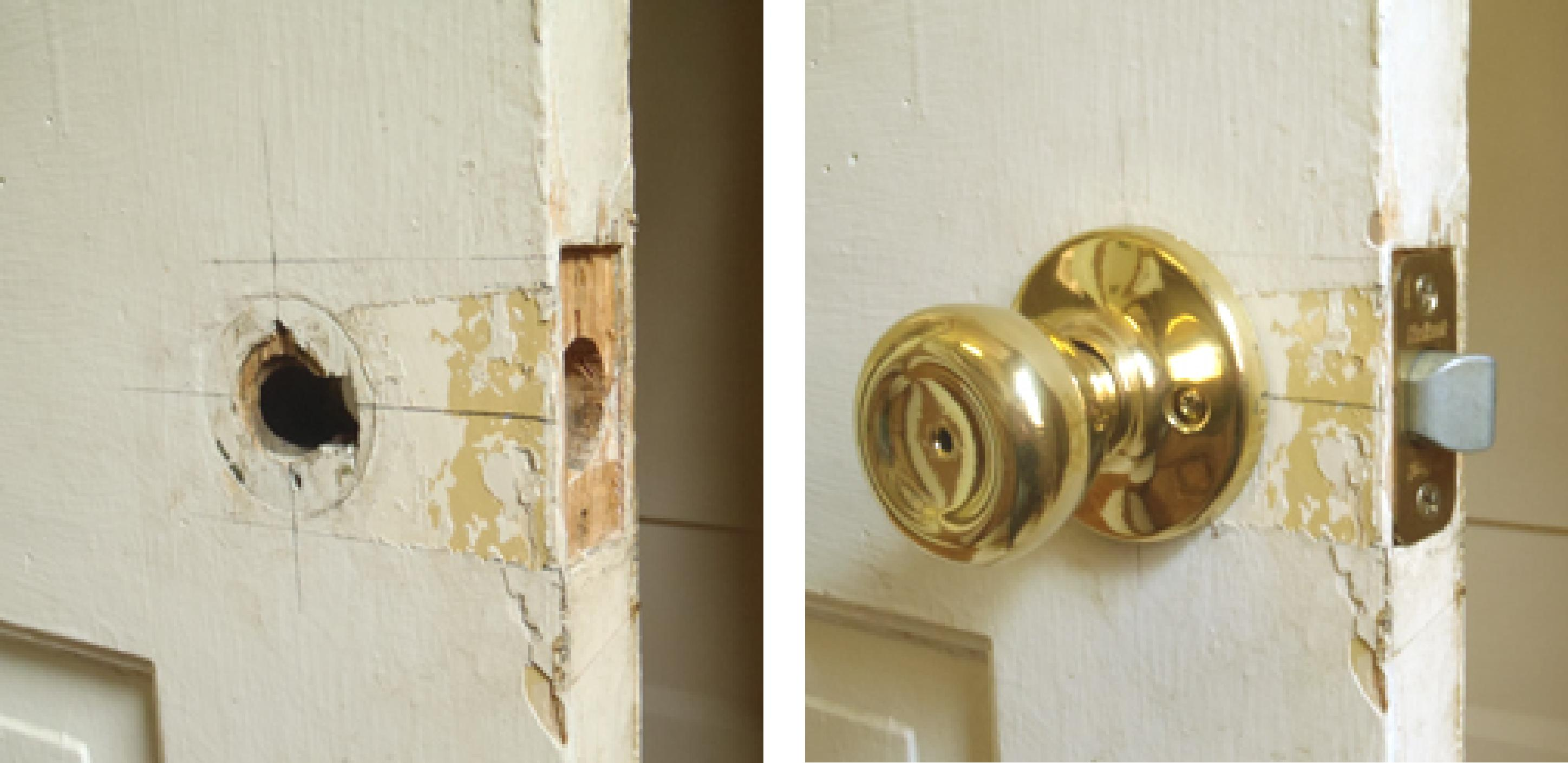 Replace Antique Door Knob With Modern Knobu003c (refinishing To Be Done By  Client)
